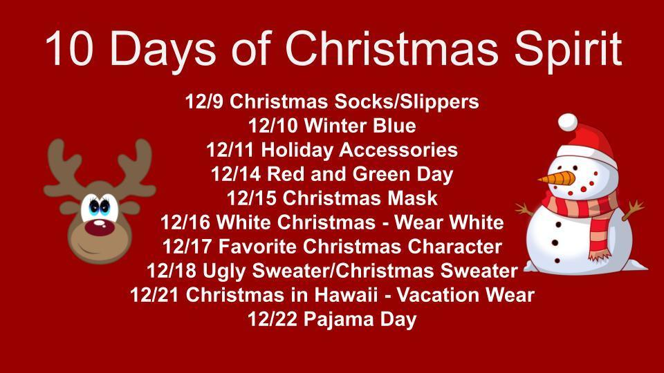 10 Days of Christmas Spirit